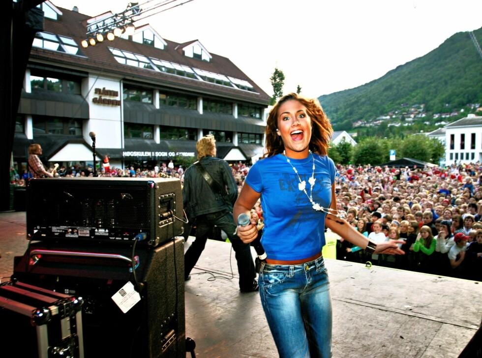 Her fra Idol-turneen i 2005.  Foto: All Over Press/Anders Grønneberg