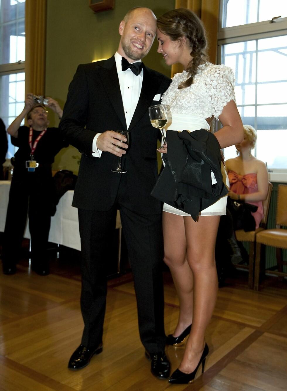 Med Aksel Hennie på Filmfestivalen i Haugesund i 2009.  Foto: All Over Press