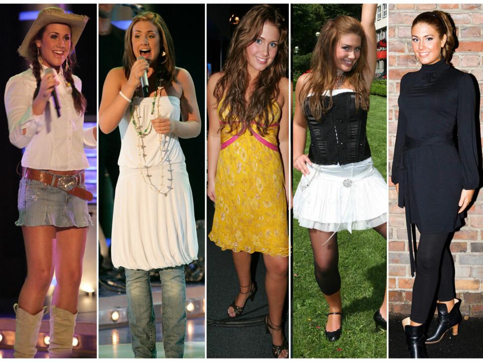 """FØR: Her ser du Tone fra hun fikk sitt gjennombrudd i """"Idol"""" i 2005, frem til 2007. Stilen var sporty og ungdommelig.  Foto: Se og Hør/All Over Press"""