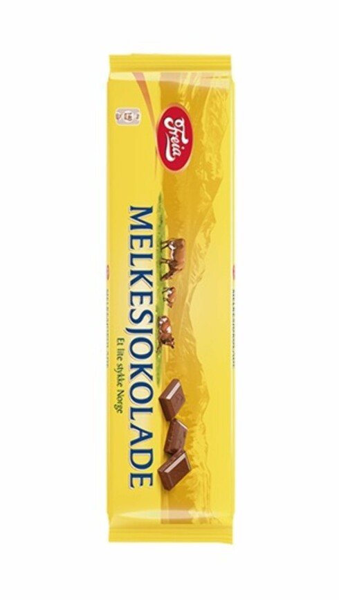 <strong>GOD, MEN MEKTIG:</strong> Bare èn rute av denne 200 grams sjokoladen inneholder 50 kalorier. Foto: Freia