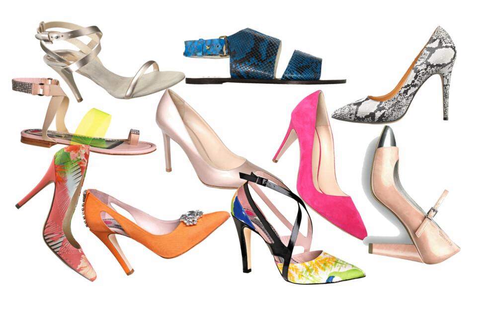 VÅRENS SKO: Her er noen av skoene vi gleder oss til kommer i butikk! Foto: Produsentene
