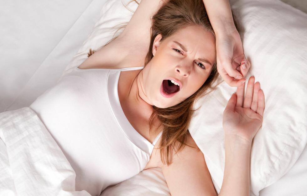 DÅRLIG SØVNKVALITET: Drikker du før leggetid kan dette føre til at du sover dårligere enn det du ellers ville gjort.  Foto: PantherMedia