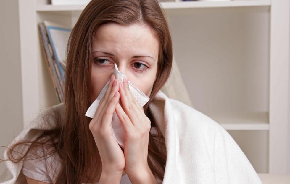 TID FOR SNUFSING: Kanskje immunforsvaret ditt er svekket? Foto: Colourbox