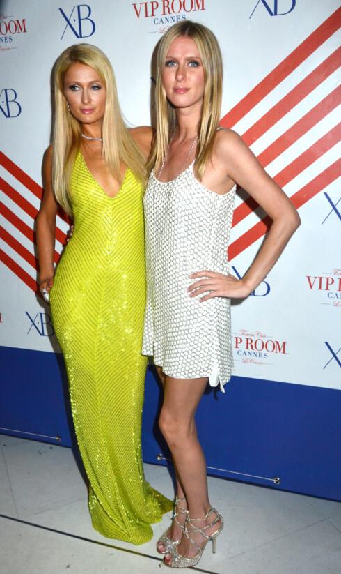 I CANNES: Paris og lillesøster Nicky Hilton er selvsagt tilstede i Cannes - hvor den årlige filmfestivalen nå går av stabelen.  Foto: All Over Press