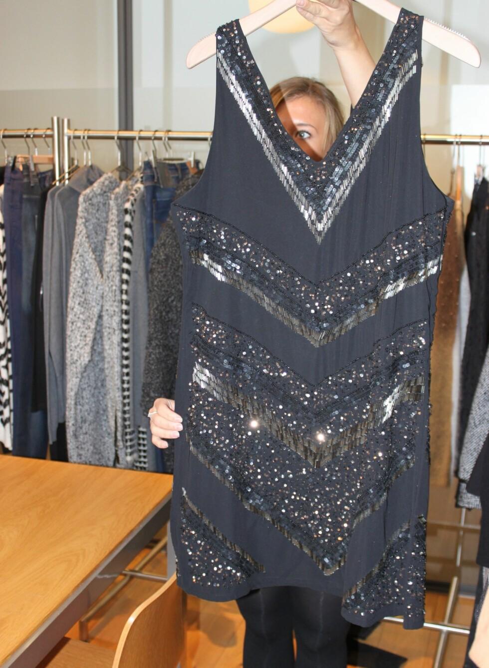 Både glitter og glamour i denne kjolen.  Foto: Tone Ruud Engen