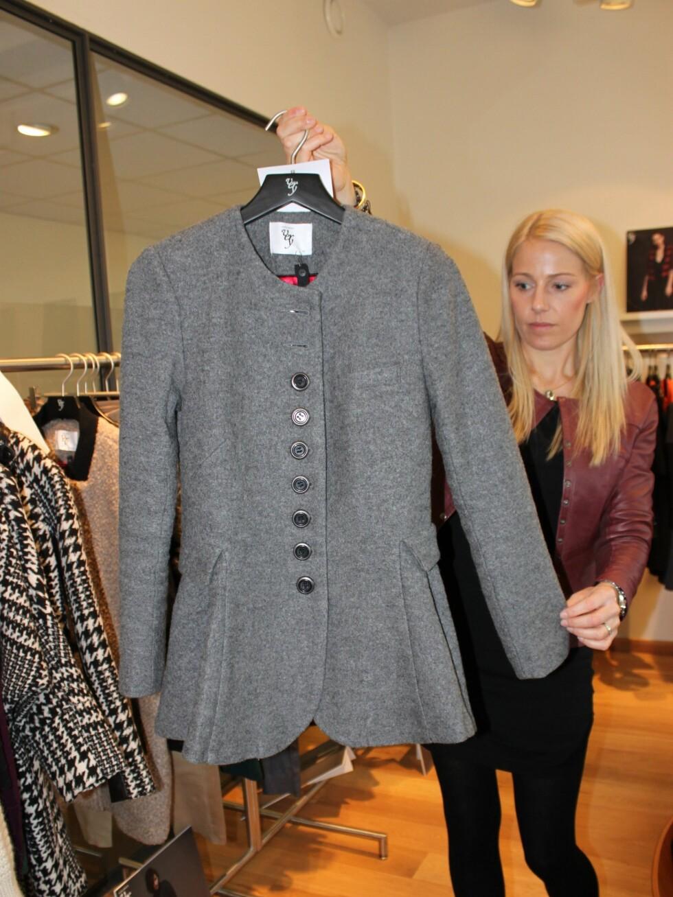 Herreinspirert jakke med feminine detaljer.  Foto: Tone Ruud Engen