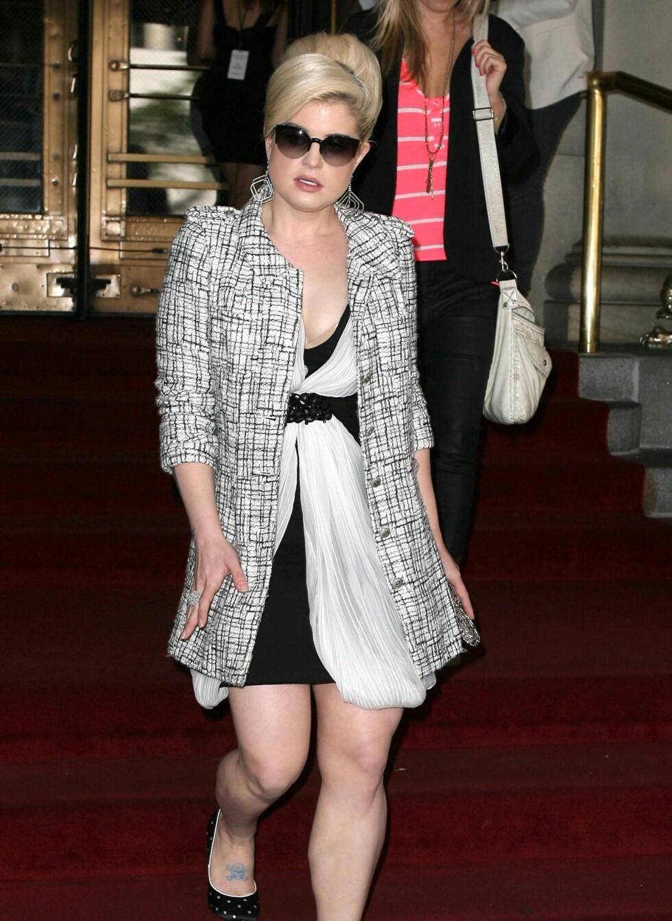 Kelly Osbourne på motevisning i New York. Foto: All Over Press