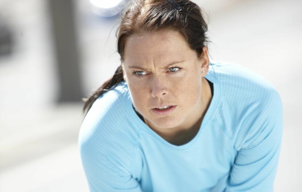 PRESS DEG SELV: Det er ikke farlig om det gjør litt vondt når du trener, og ifølge ekspertene ville de fleste av oss hatt godt av å presse oss litt mer under øktene våre.  Foto: Colourbox