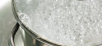 Ikke bruk varmt springvann til matlaging