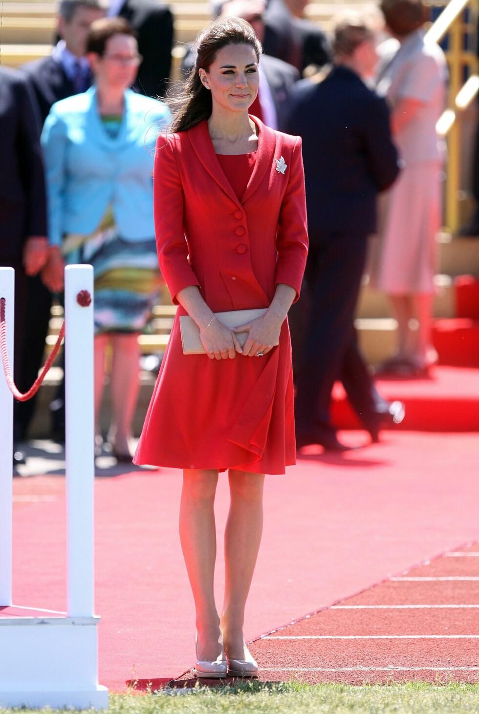 Kate brukte skoene ofte under Canada-touren i fjor. Foto: All Over Press