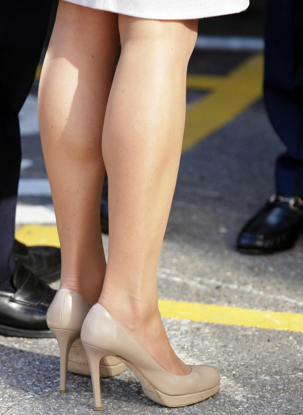 I september i fjor brukte Kate skoene da hun besøkte the Royal Marsden Hospital.  Foto: All Over Press