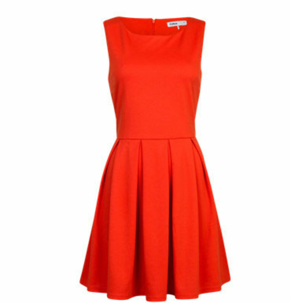 Klassisk rød kjole (kr 299/Cubus). Foto: Produsent