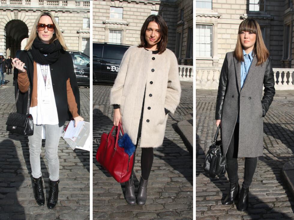 STILFULLE DAMER: Fra venstre - Fiona Patterson, Saviana og Ashley Sung. Les mer om damenes antrekk i bildespesialen nederst i saken!  Foto: Tone Ra Pedersen