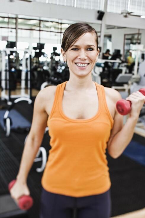 VEKTTRENING: Det er smart å trene styrke - også for helsas skyld! Foto: Getty Images