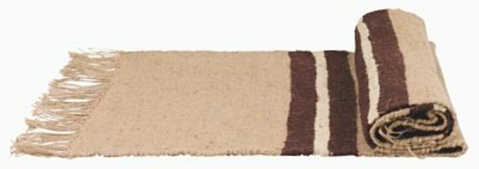 Gulvteppe med frynser (kr.200). Foto: Produsenten