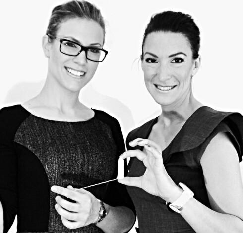 <strong>GRUNNLEGGERNE:</strong> Sophia Fahlén og Diana Solarz er gründerne og lederne bak Tampons for free. Foto: Tampons for free