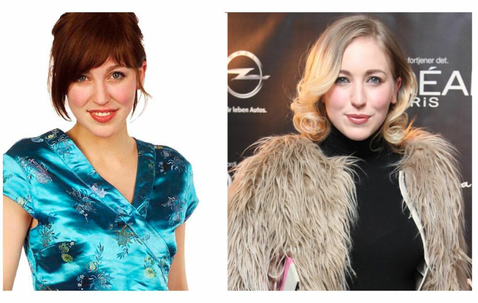 """FØR OG NÅ: Til venstre - Margareth Berger slik hun så ut da hun var med i """"Idol"""" i 2004, til høyre - på den røde løperen under åpningen av Oslo Fashion Week mandag 6. februar.  Foto: TV 2 og Per Ervland"""