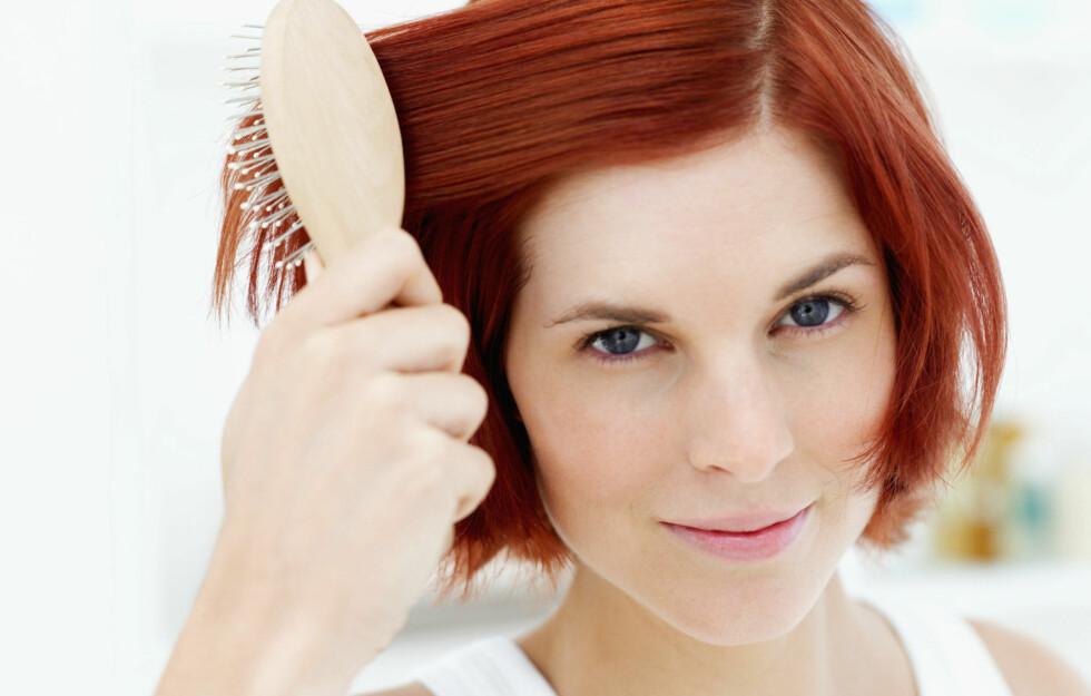UNNGÅ DETTE: Gå heller for en børste med naturbust for å ta vare på håret ditt, råder frisøren.  Foto: Getty Images / Thinkstock