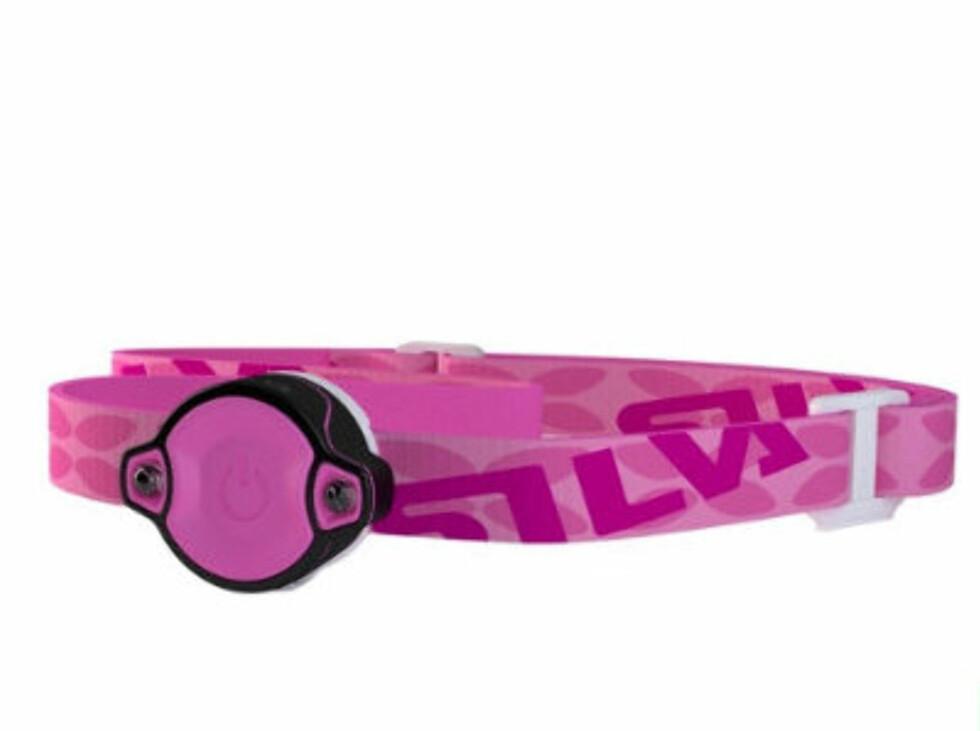 Enkel rosa hodelykt fra Silva. Liten og lett. 249 kroner fra Gsport.no.  Foto: Produsenten