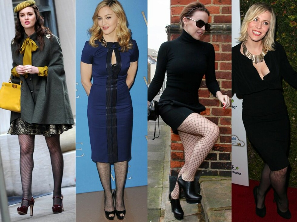 Fra venstre Leighton Meester, Madonna, Kylie Minogue og Natasha Bedingfield.  Foto: All Over Press