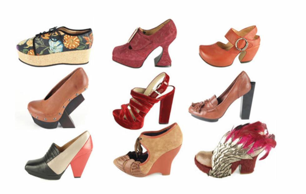 <strong>FARGESTERKT OG ANNERLEDES:</strong> Vår-og sommernyhetene hos norges største skobutikk på nett, er alt annet enn kjedelig. Fargerikt, skulpturelt og kraftige hæler, er noen av stikkordene for sesongens sko.Se priser og flere nyheter fra Brandos i bildeviseren under. Foto: Produsenten