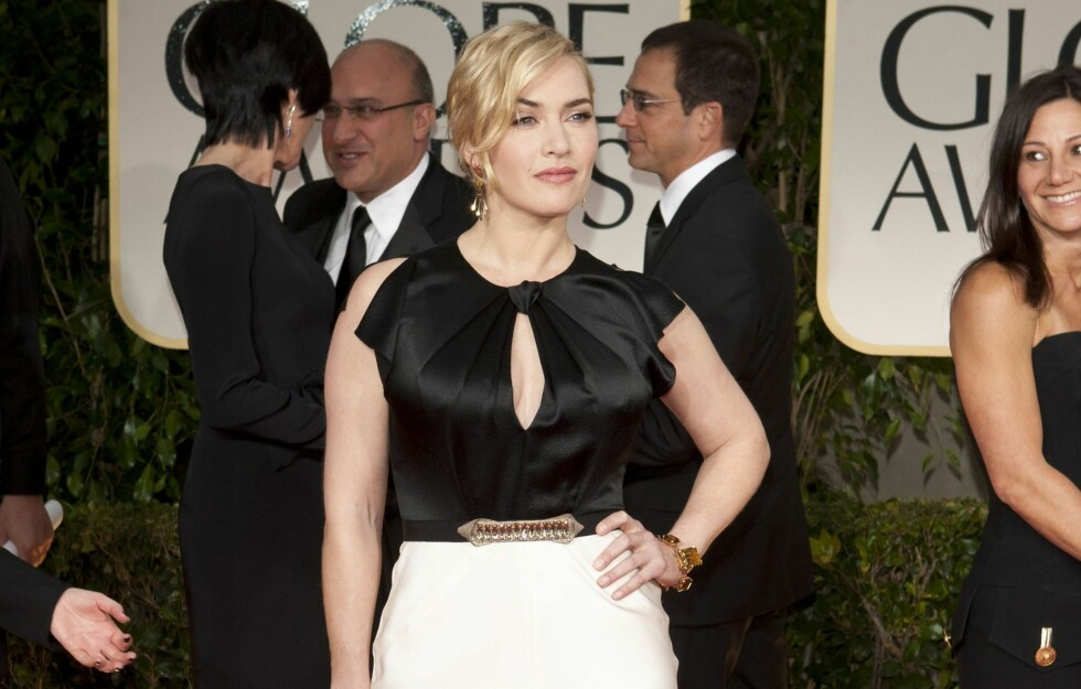 SEXY, MEN SOFISTIKERT: Skuespiller Kate Winslet på Golden Globe Awards i natt. Foto: All Over Press