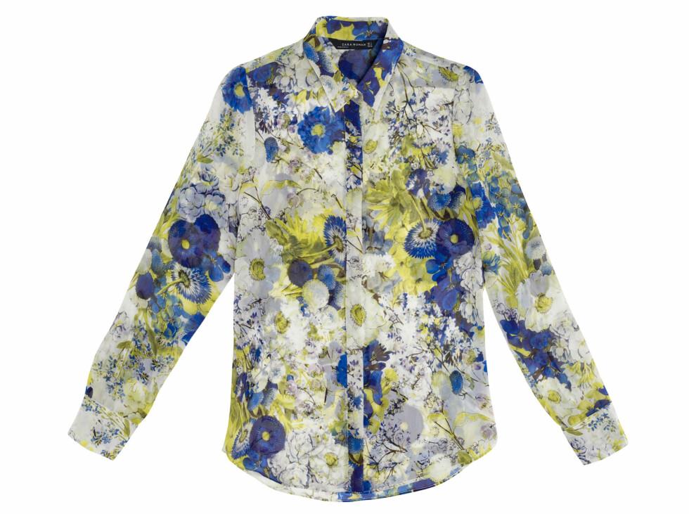 Blomstrete skjorte (Kr.399) Foto: Zara