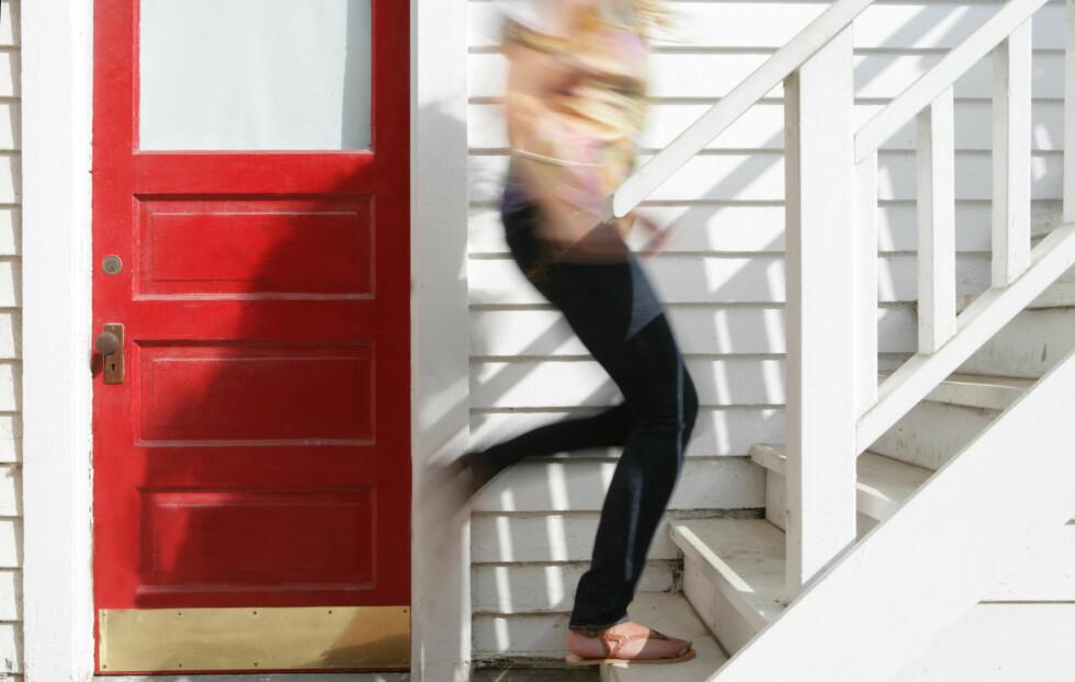 BARE FORDELER: Mindre kroppsfett, bedre kondis og mer spretten rumpe - kun ved å droppe heisen. Foto: Thinkstock