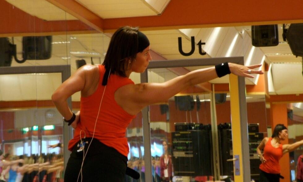 <strong>EGET FIRMA:</strong> Therese Cleve driver i dag sitt eget firma - Movimenti, hvor hun blant annet underviser i dans. Her fra Nike Convention tidligere i år.  Foto: Movimenti/Therese Cleve