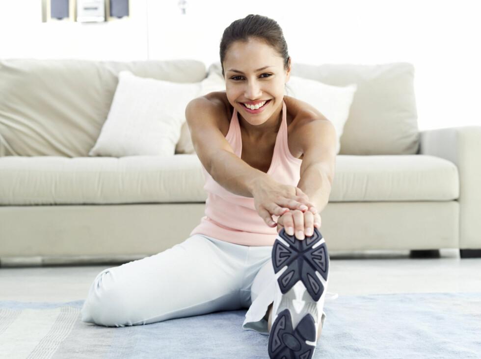 FINN BALANSEN: Når du tøyer skal det ikke gjøre vondt, men du skal fortsatt kjenne at du strekker musklene. Foto: Getty Images