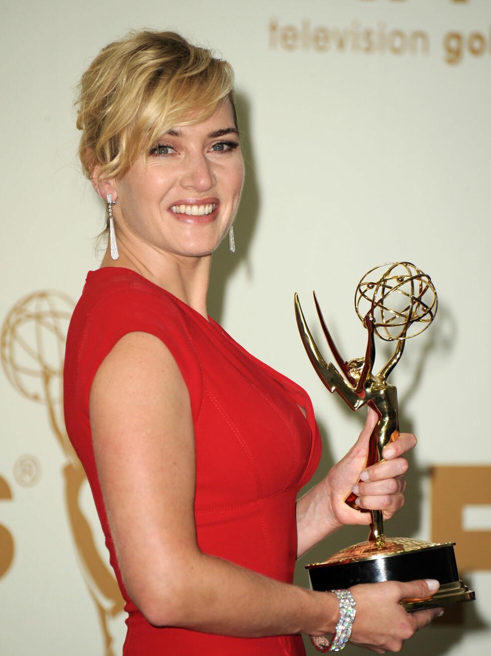 Kate Winslet begynner å få en fin samling priser for sitt skuespillerarbeid.  Foto: All Over Press