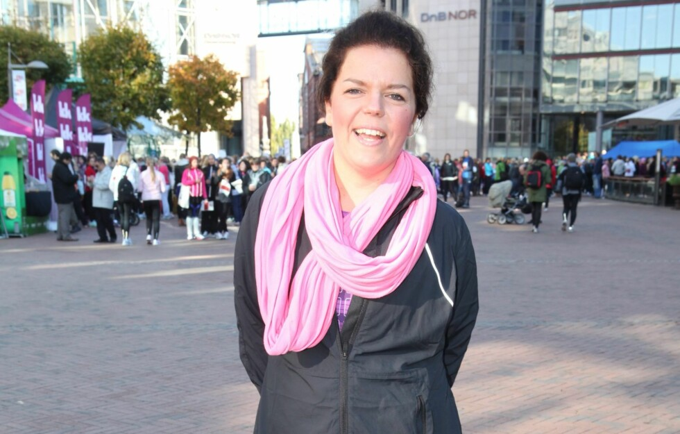 """AMBASSADØR: Komiker Else Kåss Furuseth har vært """"ambassadør"""" for KK-mila, og har gått ned 15 kilo de siste månedene takket være all løpingen.  Foto: Per Ervland"""