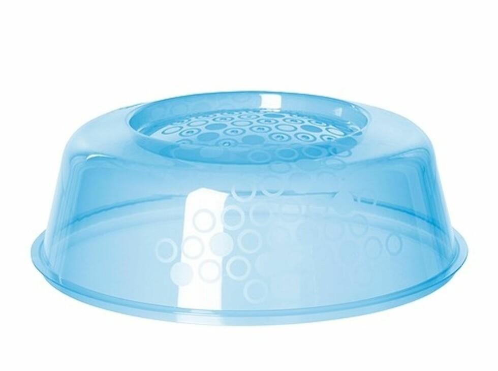 PRICKIG: Mikrobølgeovnlokk med små hull som slipper dampen ut (kr.9). Foto: Ikea.no