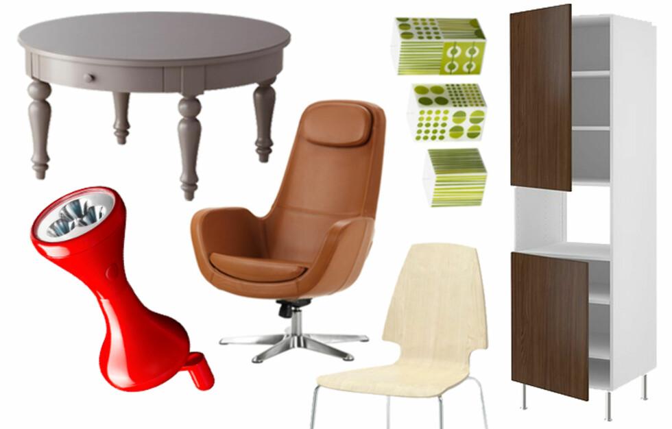 NYHETER: Vi har plukket ut våre 15 favoritter fra den nye Ikea-katalogen. Få priser og se flere favoritter i bildeviseren under. Foto: Ikea.no/collage