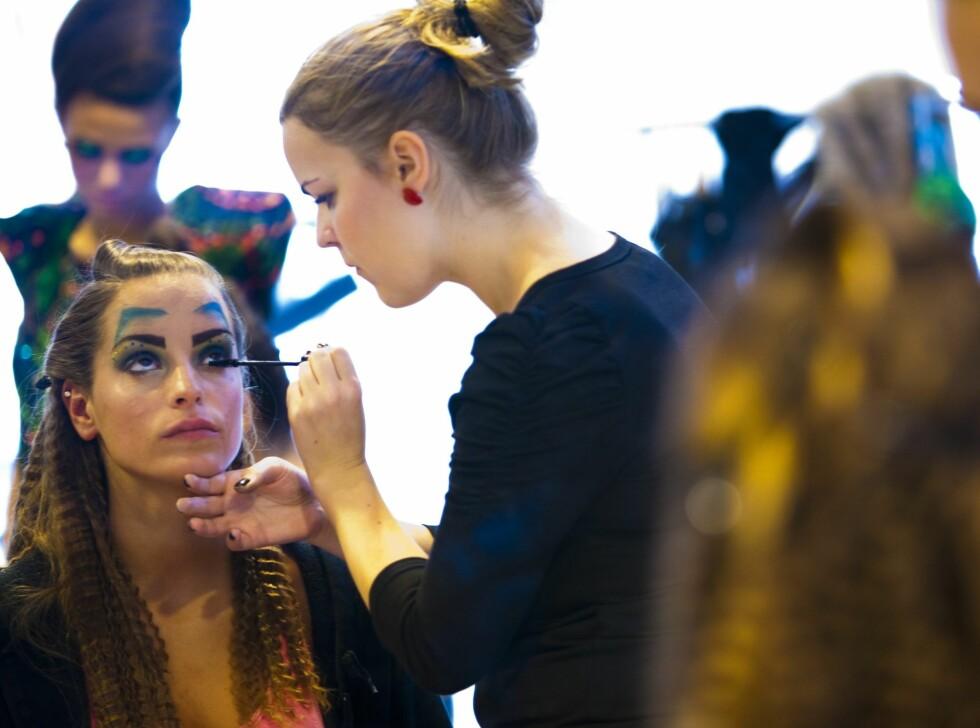 Lag på lag med mascara. Foto: Per Ervland