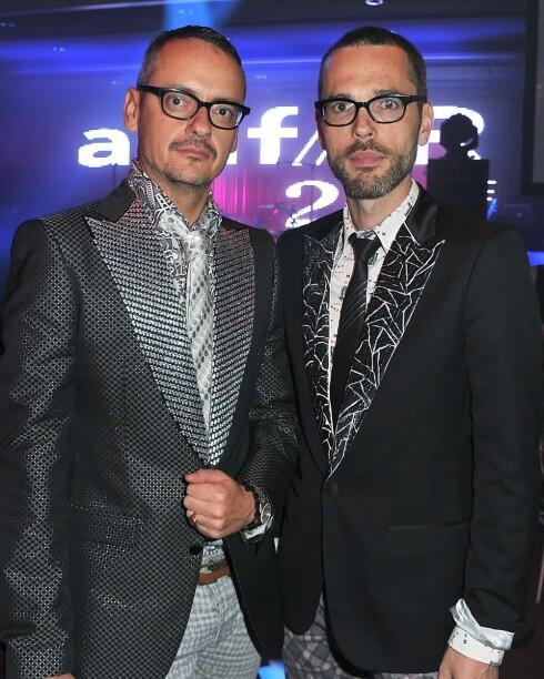 MINDRE, TAKK: Designerduoen Viktor & Rolf ønsker å se Catherine med mindre hår og mindre eyeliner. Foto: All Over Press