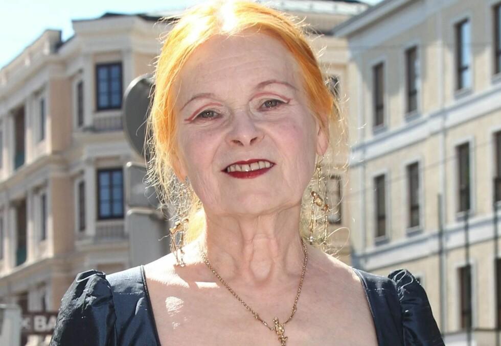- HAR ET PROBLEM: Designer Vivienne Westwood mener Catherines bruk av eyeliner gir henne et for hardt uttrykk. Foto: All Over Press