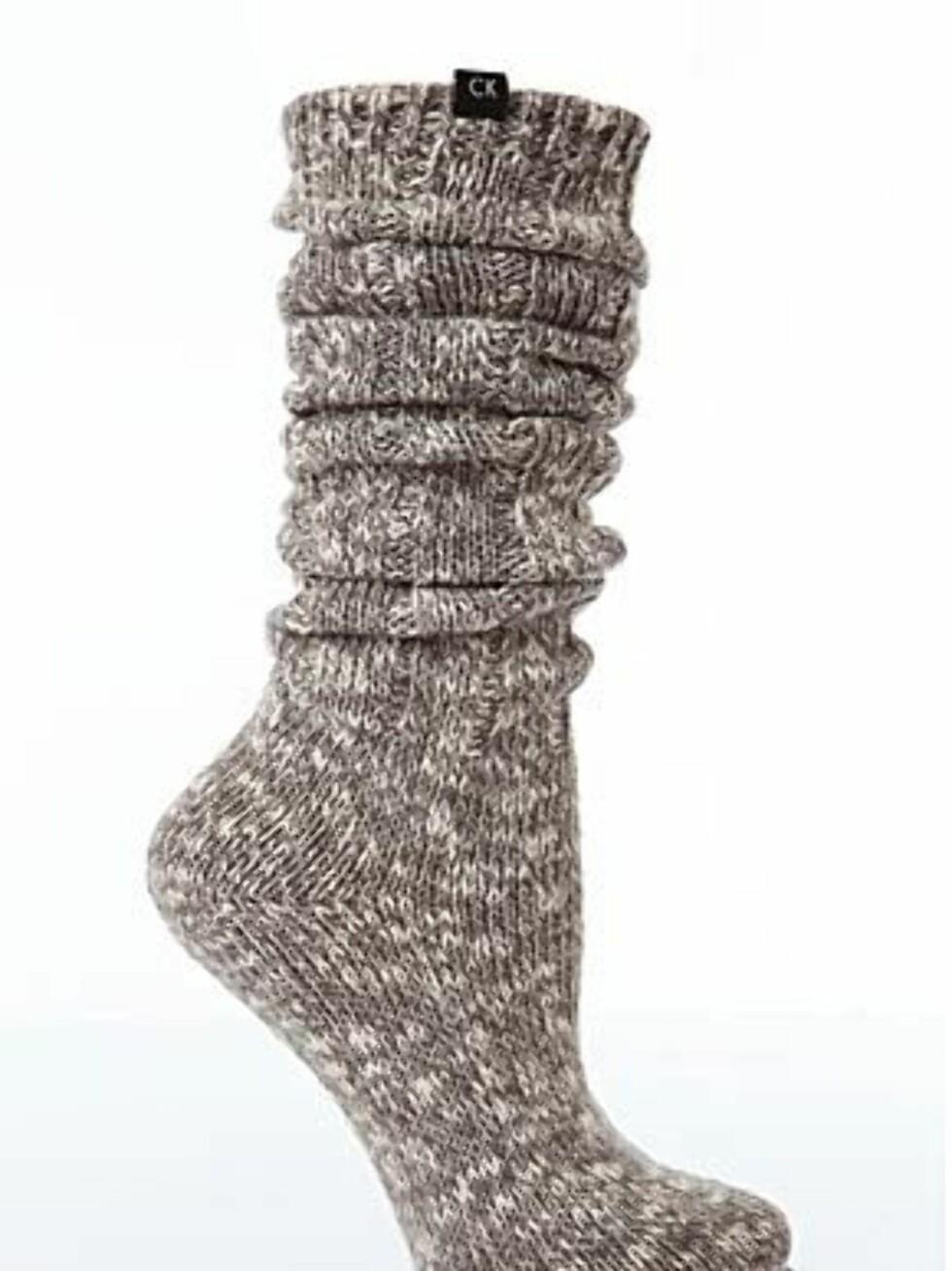 Grove raggsokker i bomull fra Calvin Klein/Sockshop, ca. kr 93. Foto: Produsenten