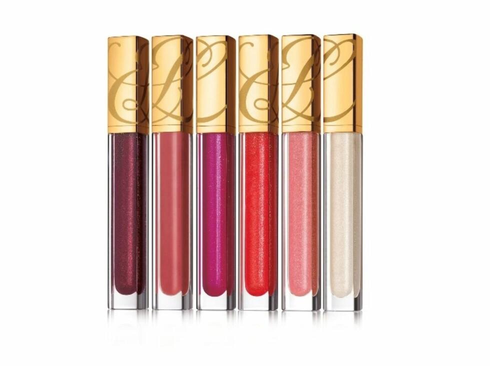 <strong>Pure Color Gloss finnes i tre typer:</strong> Shine, Shimmer og Sparkle - her kommer det bare an på hvor mye man vil skinne og glitre! Myk og kremet konsistens, fra Estée Lauder, kr 220. Foto: Produsenten