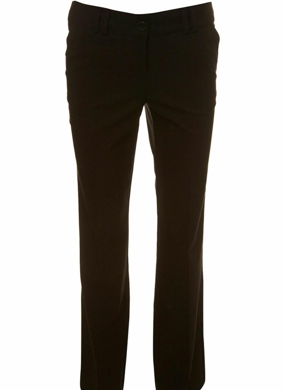 Lange svarte bukser fra Topshop, ca kr 267. Foto: Produsenten