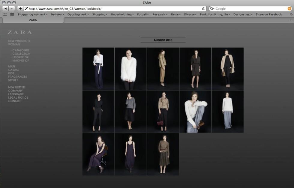 <strong>NETTBUTIKK:</strong> Endelig kommer Zara-sortimentet på nett. Dessverre er gleden kortvarig for oss i Norge. Foto: Faksimile