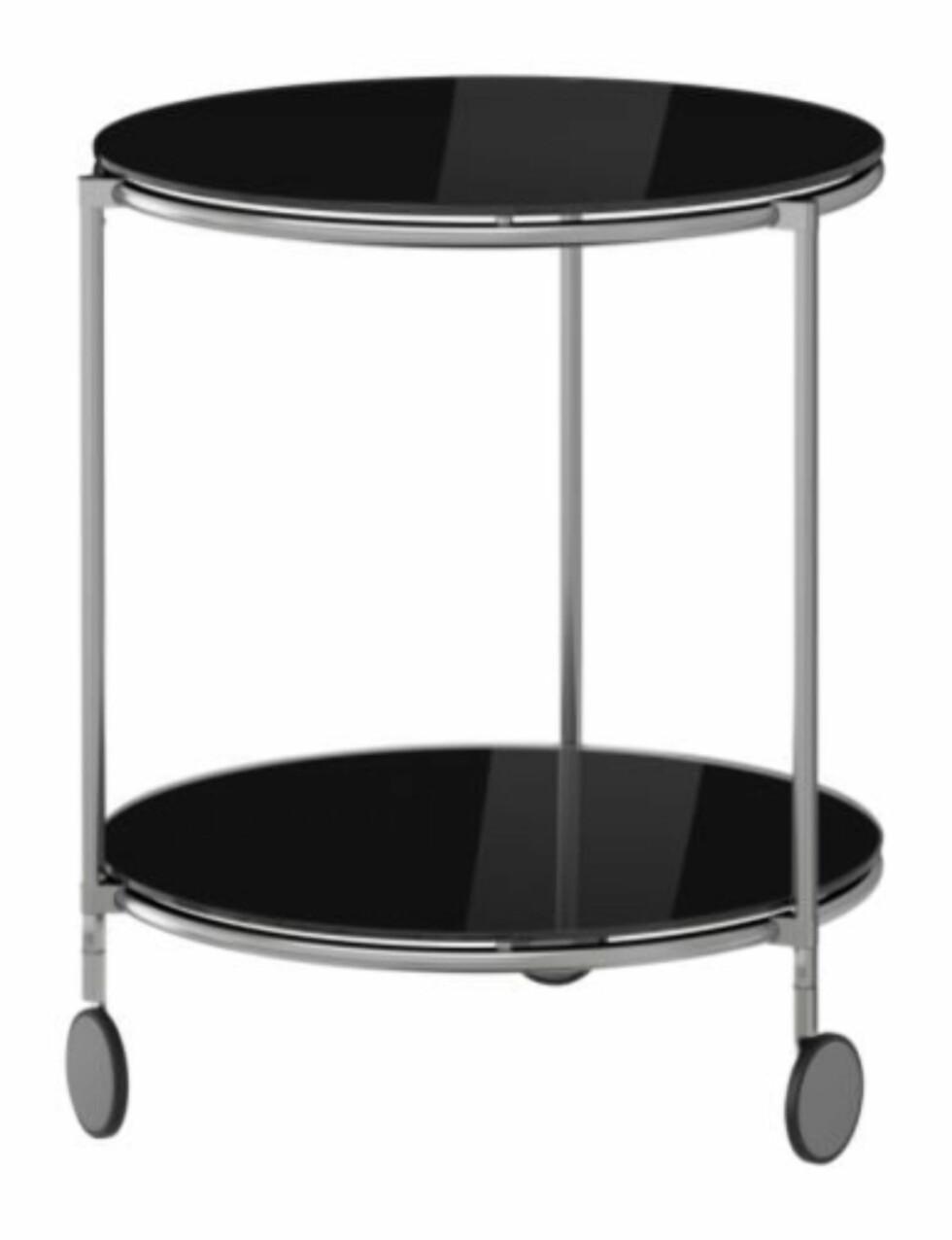 Retro-inspirert sidebord (D50H62) Perfekt for martinis eller whisky-glass (kr 649, Ikea).