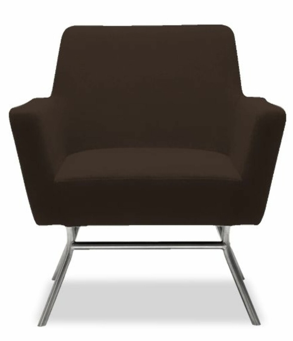 Jordfarger var veldig populært på 60-tallet. Og formen på denne stolen er helt riktig i stilen (kr 4799, Bolia).