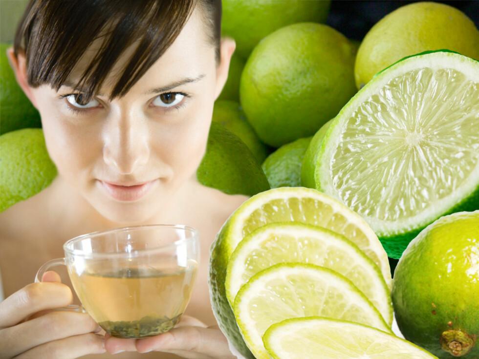 Litt ekstra lime i den grønne teen gjør den enda sunnere.