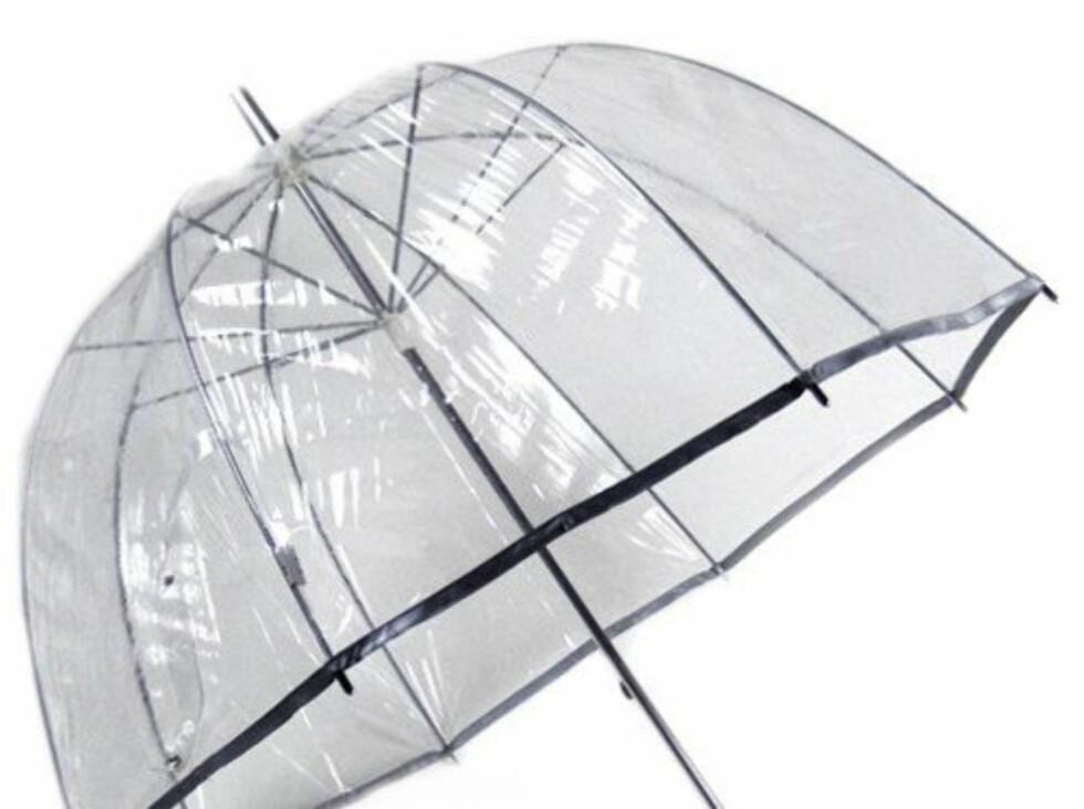 Her er paraplyen for deg som er redd for at den stilige frisyrene din ikke får nok oppmerksomhet! (ca kr 311, Umbrellas.net).