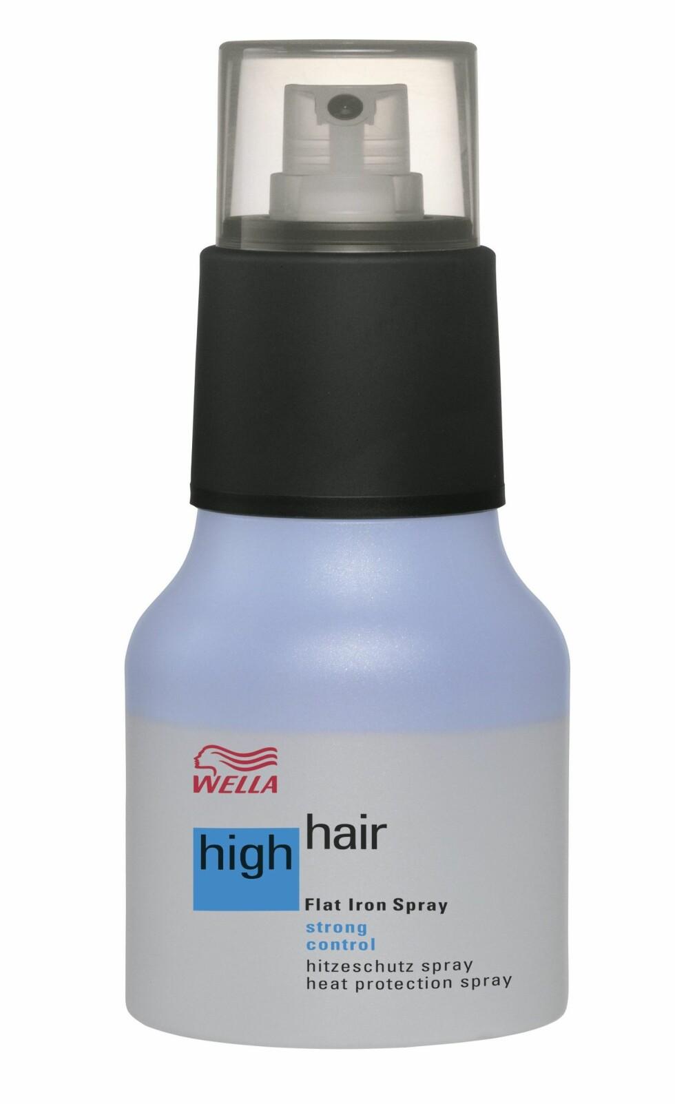 High Hair Flat Iron Spray 200 ml, fra Wella, ca. kr 195. Foto: Produsenten