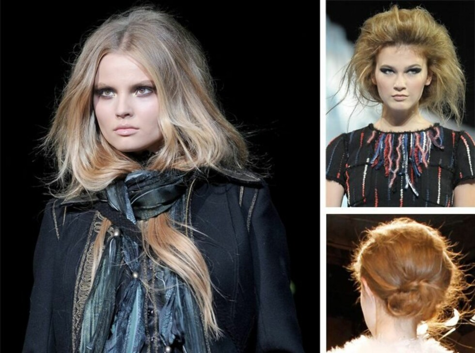 <strong>HOT I HØST:</strong> Nå skal håret se mest mulig produktfritt og naturlig ut, men det må styles for å se sånn ut. Foto: All Over Press