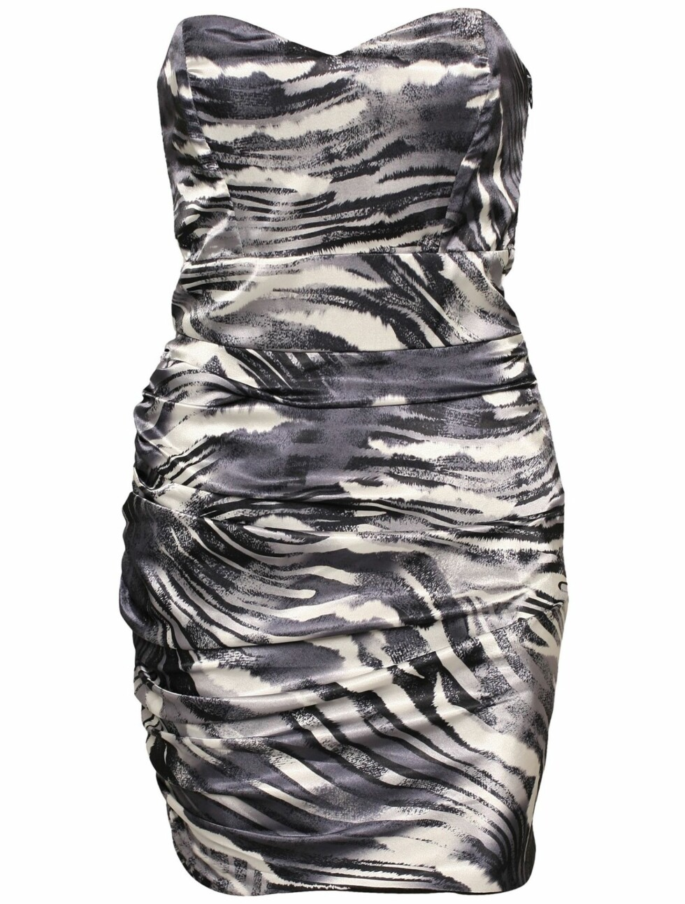 Med denne kjolen blir du mer sexy enn en zebra (kr 500, Rare Fashion/Nelly.com).