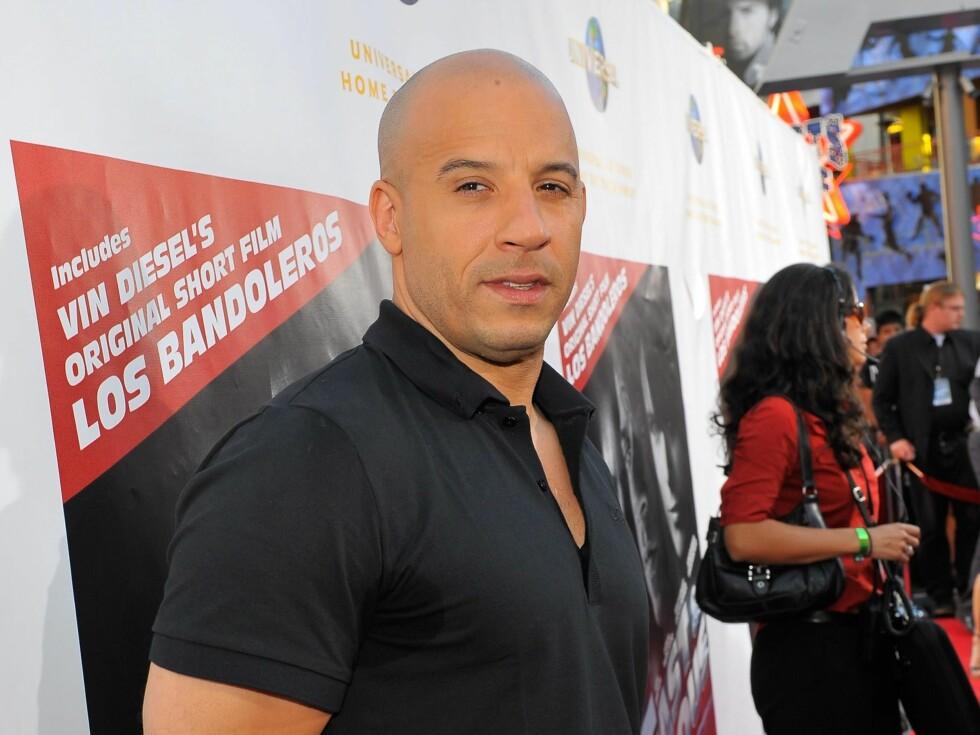 MASKULIN: Ingen tvil om at Vin Diesel er noe av det mest maskuline som er å oppdrive i Hollywood. Foto: All Over Press
