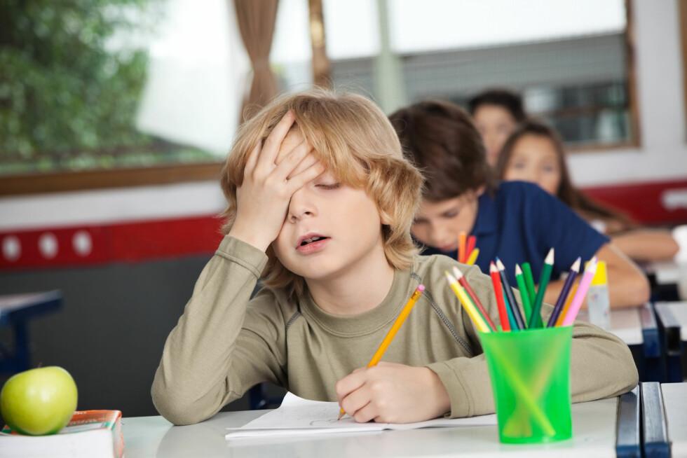 VANSKELIG Å KONSENTRERE SEG: For noen kan epilepsien gå utover læringen på skolen.  Foto: Scanpix